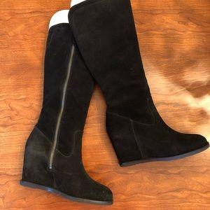Johnston & Murphy Suede Boots with Wedge Heel
